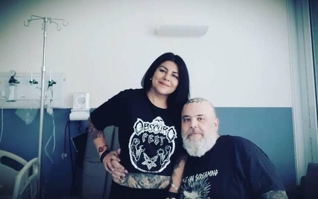 João Gordo e a esposa, Vivi Torrico