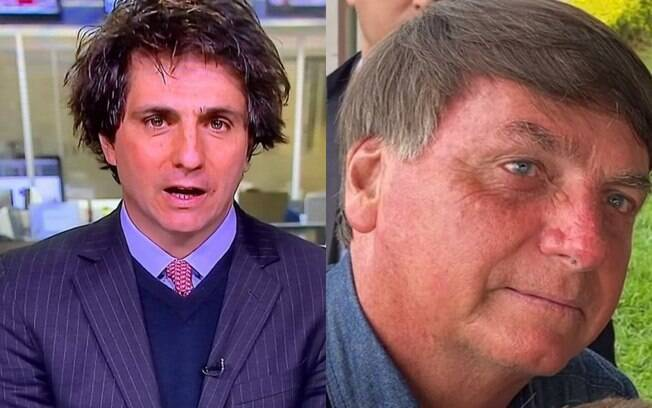 Guga Chacra e Jair Bolsonaro exibem seus penteados
