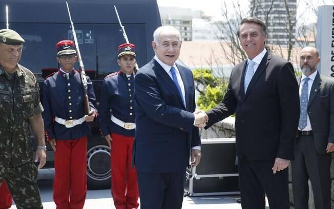 Jair Bolsonaro se encontrou com o primeiro-ministro de Israel no Forte de Copacabana
