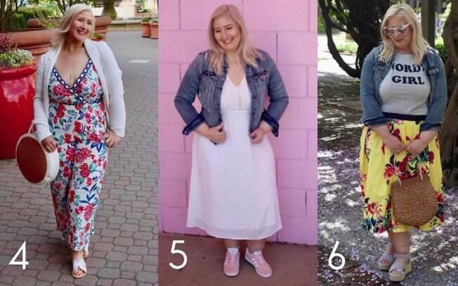 Rasteirinhas (4), tênis (5) e espadrilhas (6) completam os calçados favoritos de Jacqueline após perder tanto peso