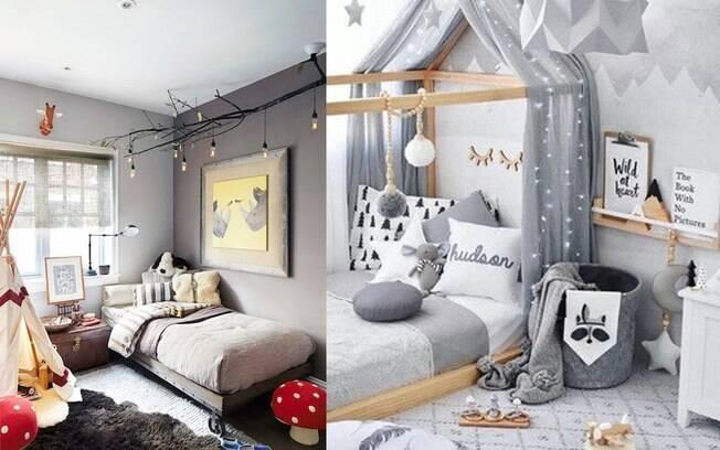 Quartos de criança também podem ser compostos por tons de cinza. Os brinquedos trazem cores vivas ao quarto.