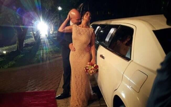 Gretchen e Carlos Marques se casam em São Paulo