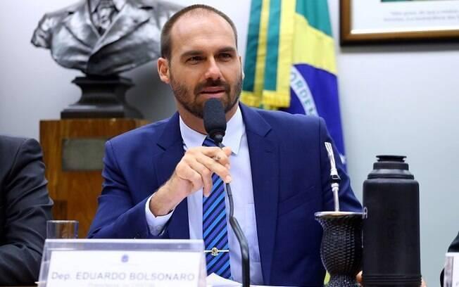Deputado federal Eduardo Bolsonaro está na lista dos que tiveram suspensão recomendada pela Executiva