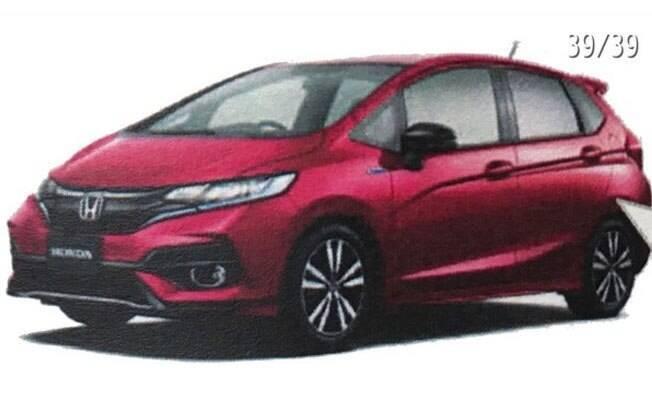 Imagem do catálogo oficial do novo Honda Fit, divulgada pelo usuário do Twitter @ren_games_