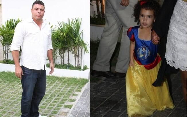 Ronaldo comemora os três anos da filha Maria Sophia em São Paulo