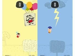 Jogo casual disponível para Android e iOS, Tap Toy é gratuito e traz os personagens da Turma da Mônica em versão 2D Toy Art no lugar do pássaro do Flappy Bird