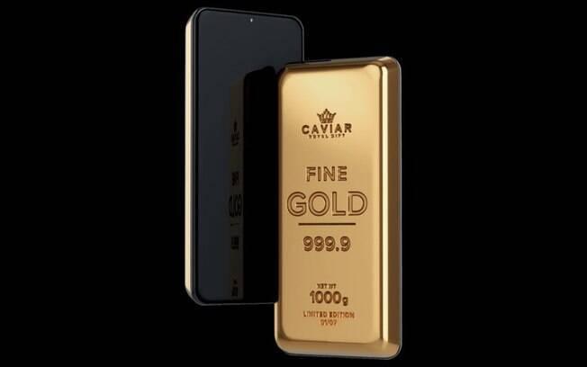 Empresa russa coloca iPhone dentro de uma barra de ouro 24 quilates