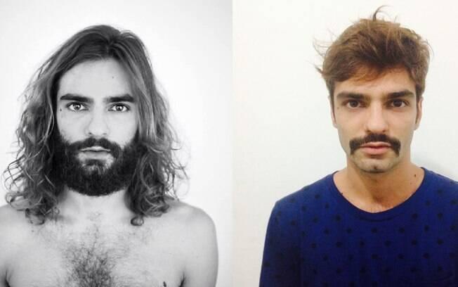 O stylist Vinícius Couto passou quatro anos com cabelo comprido e barba, mas decidiu mudar na última semana. Só não abriu mão do bigode