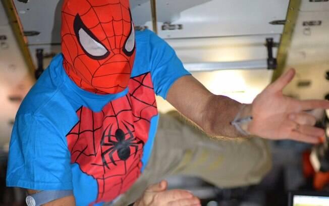 'Finalmente chegou minha chance de me tornar o Homem-Aranha! Feliz Halloween!', publicou Nespoli