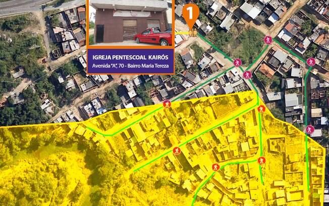Área amarela representa regiões que poderiam ser atingidas por rompimento de barragem em Ouro Preto