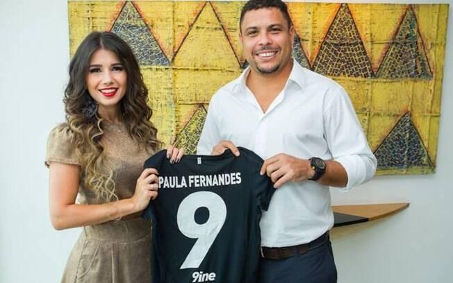 Paula Fernandes e Ronaldo: nova parceria