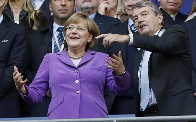 Chanceler da Alemanha, Angela Merkel marcou  presença da final da Champions