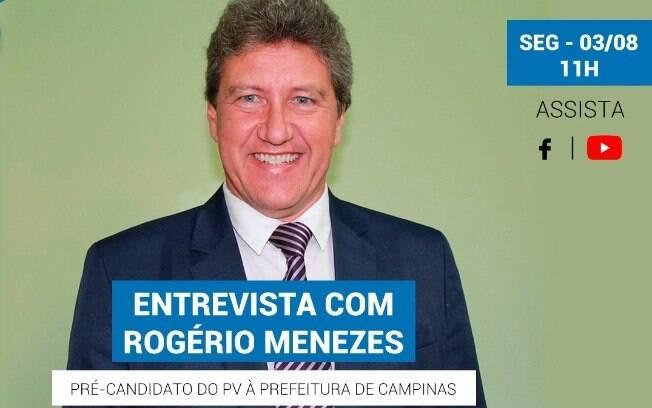 Rogério Menezes será entrevistado pelo iG nesta segunda-feira (03).