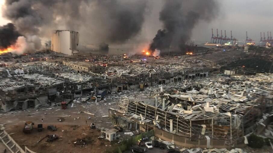 A megaexplosão aconteceu no principal porto de Beirute e matou cerca de 200 pessoas