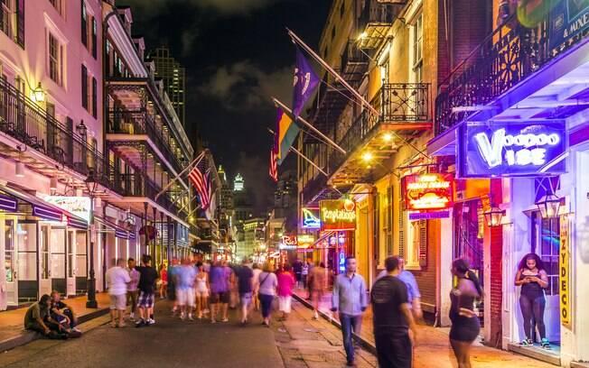 Nova Orleans tem vida noturna agitada
