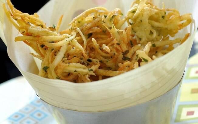 Foto da receita Bolinho de batata crespa pronta.