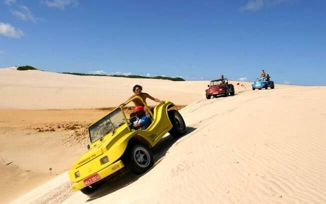 Um passeio de bugue pelas dunas é outra opção interessante para quem curte estar motorizado no final de semana