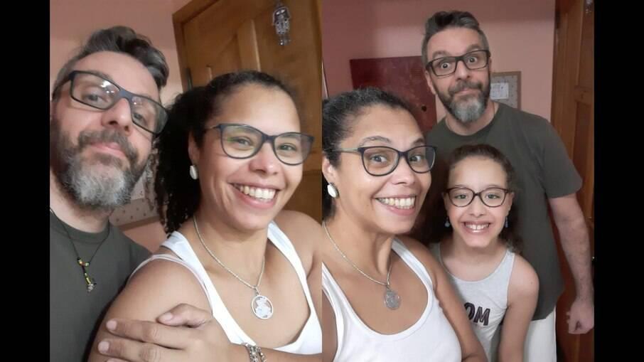 Kátia, Cláudio e a filha Maria Fernanda