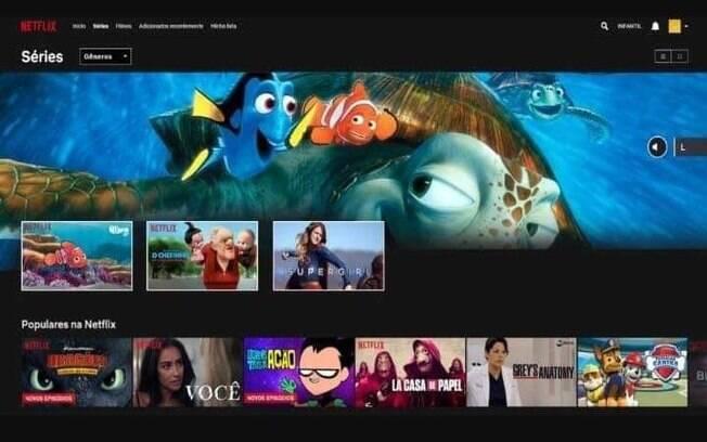 Rodrigo Lima, de 22 anos, dedicou dois dias para reproduzir layout da Netflix em gravação de filme