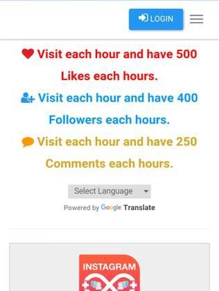 Pograma solicita que o usuário faça login por meio de uma tela semelhante a real (do Instagram)