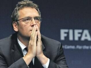 Secretário-geral fez parte de uma comitiva da Fifa que desembarcou em Porto Alegre nesta segunda