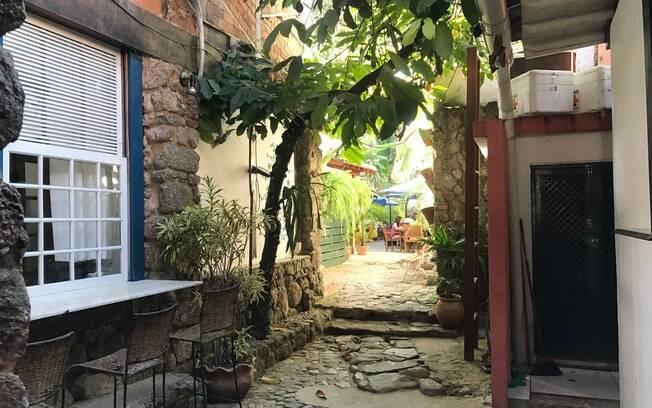 Charmoso restaurante Bartholomeu no Centro Histórico de Paraty