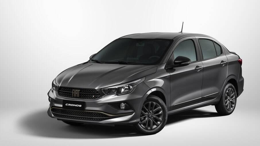 Fiat Cronos S-Design da linha 2022 agora vem com detalhes pintados na cor bronze junto com partes escurecidas