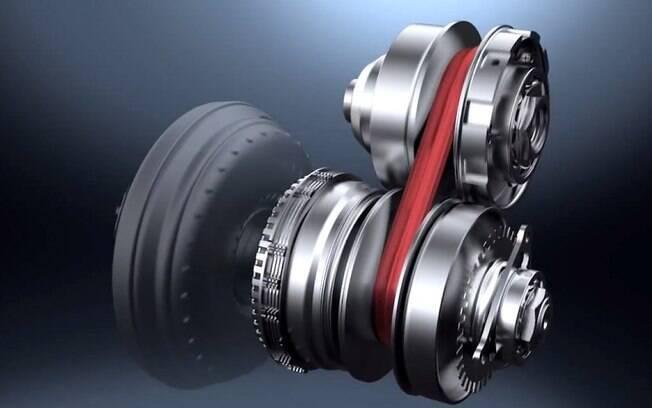 Câmbio automático CVT funciona com corrente e polias de diâmetros diferentes, como em algumas motocicletas