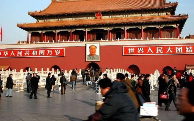 Praça Celestial da China foi alvo de ataques