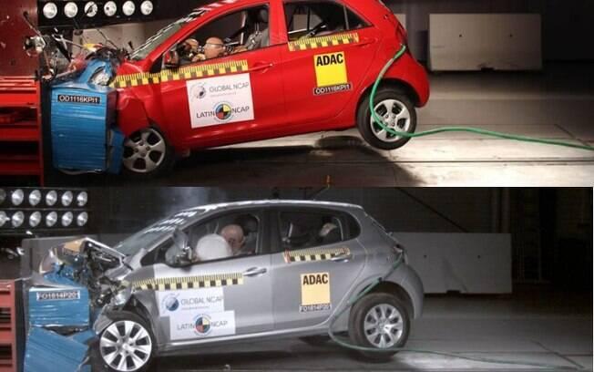 Kia Picanto e Peugeot 208 são testados pelo Latin NCAP