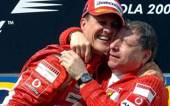 O presidente da FIA, Jean Todt, é um grande amigo de Michael Schumacher