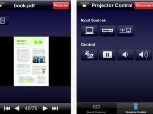 Aplicativo conecta o dispositivo a um projetor