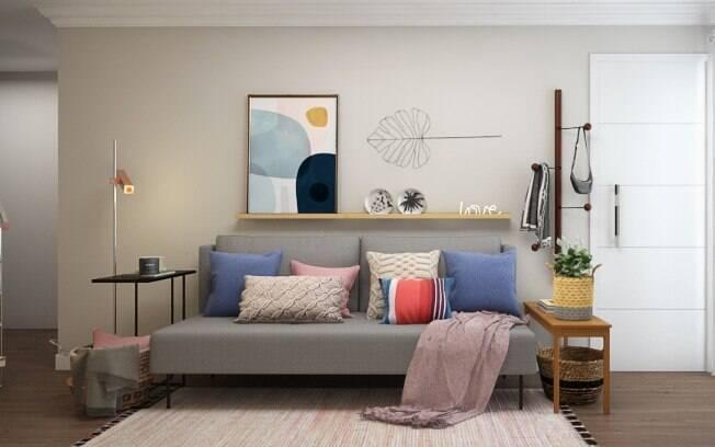 Almofadas e mantas são outros itens que completam a decoração dos cômodos de forma fácil e prática