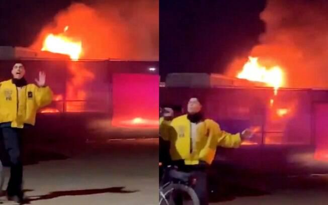 Incêndio no Coachella causa pânico na Califórnia