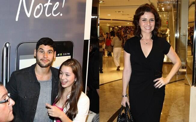 Giovanna Antonelli e Dudu Azevedo em lançamento de celular em São Paulo nessa quinta-feira (8)