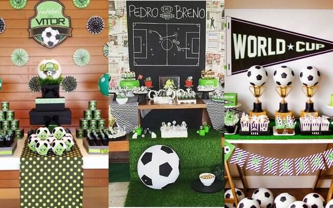 Antes de pensar no que colocar na mesa do bolo, você deve decidir se sua festa de futebol será de um time só