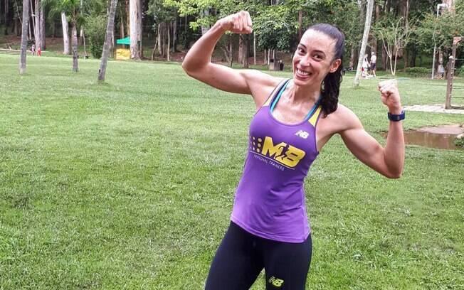 Bruna Guido é treinadora e atleta de corrida, mas já praticou diferentes tipos de atividade física  antes, como judô