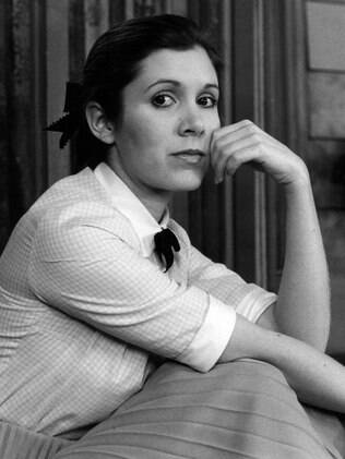 A atriz Carrie Fisher