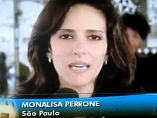 Monalisa Perrone: susto ao vivo