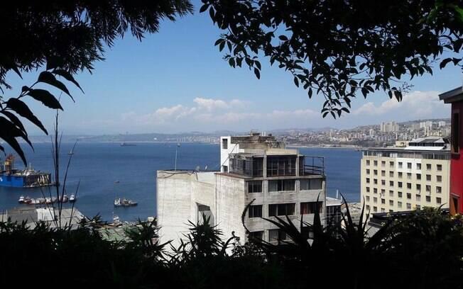 Vista de Valparaíso, outra imagem que ficará da viagem com o Nissan X-Trail