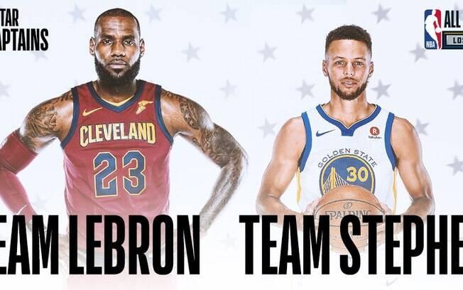 LeBron e Curry são os capitães do Jogo das Estrelas da NBA