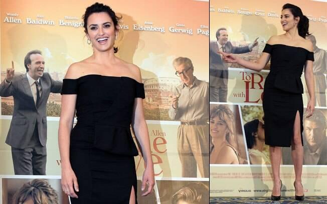 Penélope Cruz roubou a cena na coletiva com um elegante vestido preto
