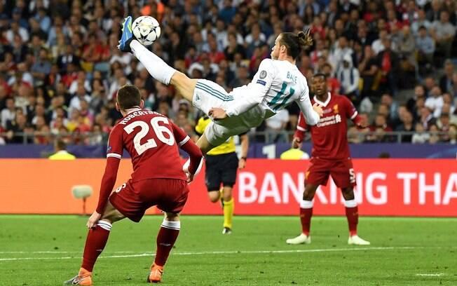 Gareth Bale marcou um golaço de bicicleta na final da Champions League