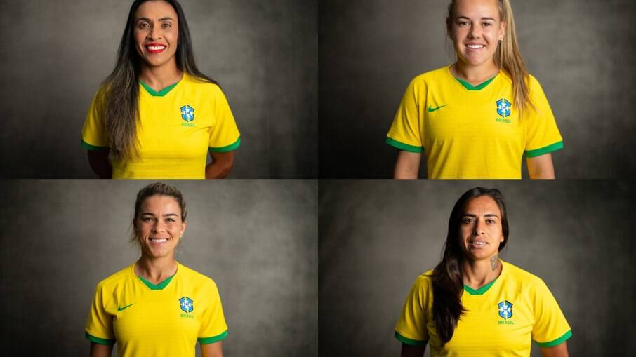 Fotos oficiais da Seleção Feminina de Futebol das Olímpiadas