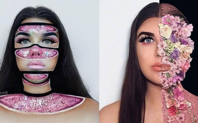 A artista australiana de 19 anos compartilha os efeitos visuais que cria com mais de 12 mil seguidores nas redes sociais
