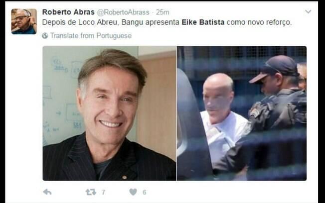 Internautas aproveitaram a prisão de Eike para zoar o Bangu Atlético Clube, que apresentou o uruguaio Loco Abreu