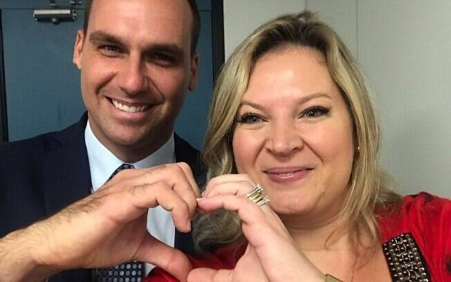 Eduardo Bolsonaro e Joice Hasselmann