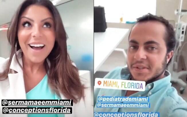 Thammy Miranda e Andressa Ferrira estão em Miami, na Flórida, para processo de inseminação