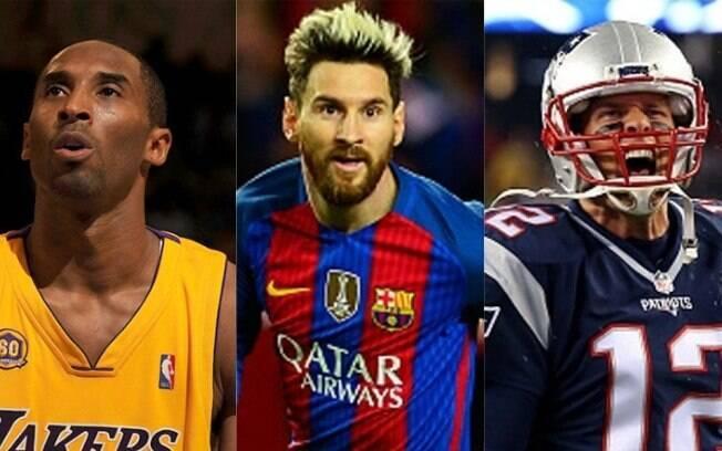 Kobe, Messi e Tom Brady são os mais votados como 'o melhor esportista de todos os tempos'