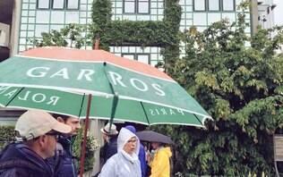 Por chuva, Roland Garros cancela todos os jogos do dia pela 1ª vez no século